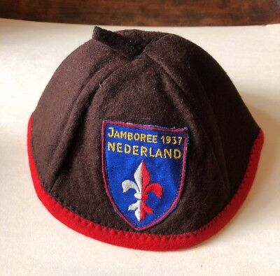 Boy Scout Vintage Antique 1930's Jamboree Nederland Beanie Hat Cap