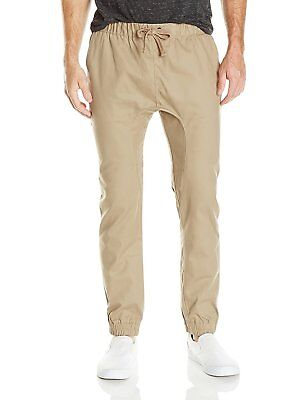 soft and light good reputation good selling AKADEMIKS MENS BIG and Tall Solid Twill Jogger Pant Khaki ...