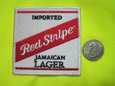 Beer Patch Red Stripe Jamaican Lager Beer Look And Buy Now Great Gift Item!!!!!!