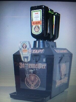 Brand New In Box Jagermeister 3 Bottle Tap Machine Jager Chilled Shots Lighted