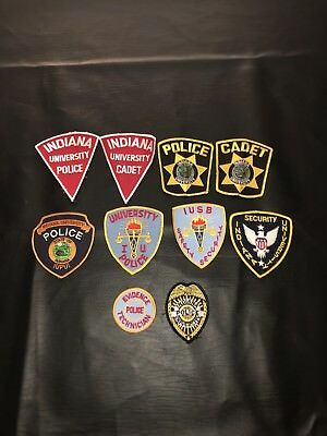 Indiana University Police Patch Lot