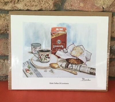"Community Brand Coffee "" State Coffee Of Louisiana "" Unframed Print Susan Clark"