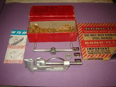 Band-It Banding / Strapping Tool With Stainless Steel Banding and Clamps