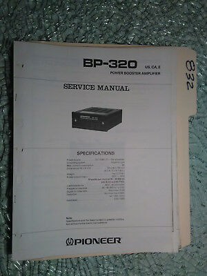 Pioneer service manualbp 320 booster amplifierampcar unit pioneer bp 320 service manual original repair book car stereo power amp 9 pages asfbconference2016 Images