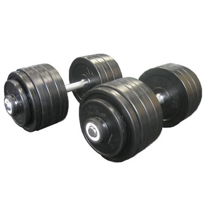 New 80Kg Rubber Dumbbell Dumbell Weights Weight Set Gym