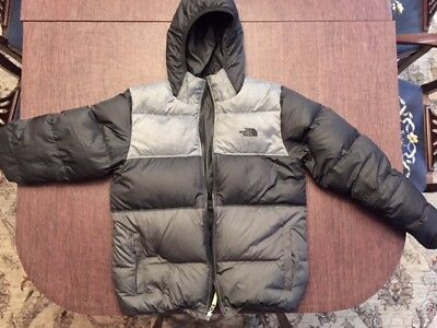 The North Face Boy's Reversible Moondoggy Down Puffer Jacket Black Xl