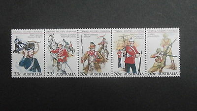 1985 Australia set 5 33c  se-tenant stamps - Military Uniforms