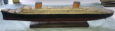 Antique Wood Steamship Model Ship Quality Estate Find Early Paint 28""