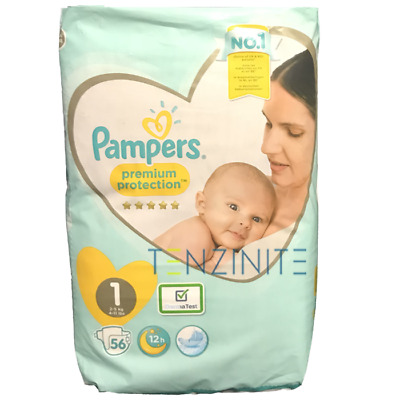 Pampers Newborn Nappies Size 1 Wetness Indicator 56 Nappies Per Pack