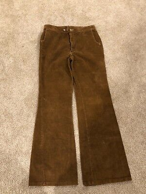 Vintage 70's Rappers corduroy Bell bottoms (flare) High rise pants Retro