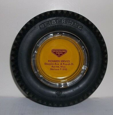 Vintage Seiberling Tires Richards Service Racine WI. Advertising Ash Tray
