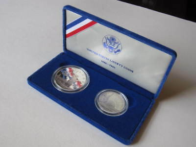 1886-1986 United States Liberty Coins - Ellis Island Silver Proof Set