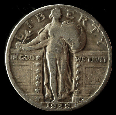 1929-P Standing Liberty 90% Silver Quarter Ships Free. Buy 3 get xtra AG. NR