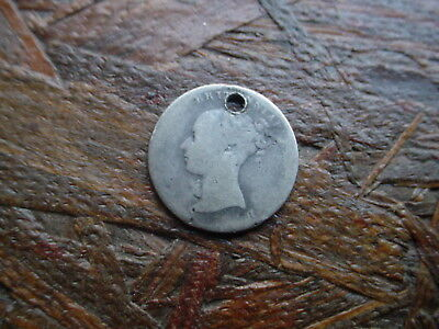 1842 Great Britain 4 Pence Silver Coin  - Must See
