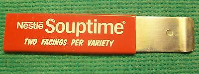 Nestle Souptime Two Facings Per Variety Advertisement Collectible Razor Knife