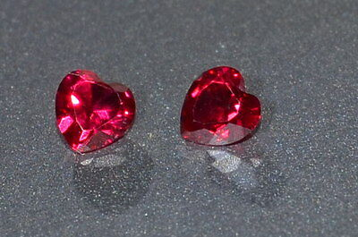 A Single Gorgeous 4mm IF Heart Cut Genuine Red Ruby