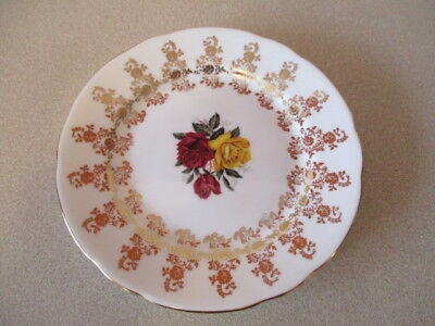 VTG Roses Floral Hammersley & Co Bone China England Small Decorative Plate