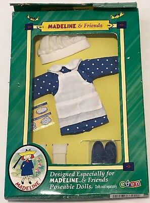 NIB Madeline & Friends Poseable Doll Clothes, Eden 2000 - Making Treats