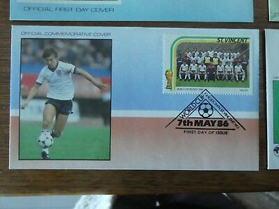 Commemorative Cover - St. Vincent - Football World Cup Mexico 1986