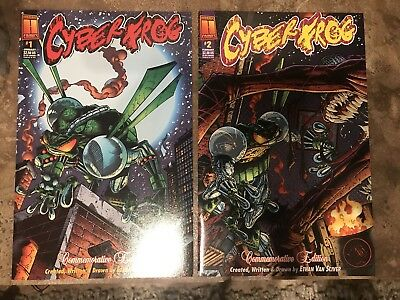 Cyberfrog #1 & #2 3rd Anniversary Special Harris 1997 NM