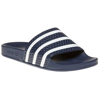 NEW MENS ADIDAS Blue Adilette Synthetic Sandals Pool Slides