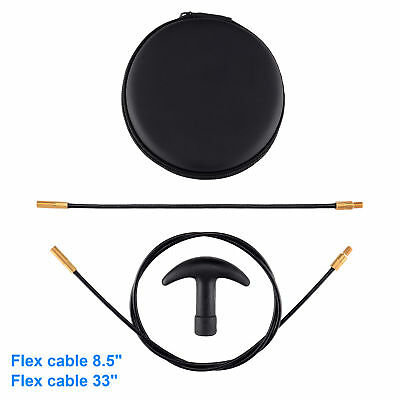 """Flexible Threaded Bore Cleaning Kits Coated Cable Set8"""",33"""" for Pistol Rifle"""
