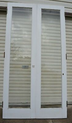 Timber double door, rebated with glass panels 1200w x 2270h