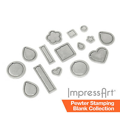 ImpressArt Pewter 1.3mm Thick Stamping Blanks for Jewellery Metal Stamping