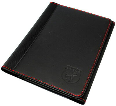 Abarth Handbook Document Wallet Holder Black with Red Stitching New Gen 53008546