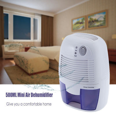 Portable Electric Dehumidifier Dry Air Moisture Remover 500ML For Home Office