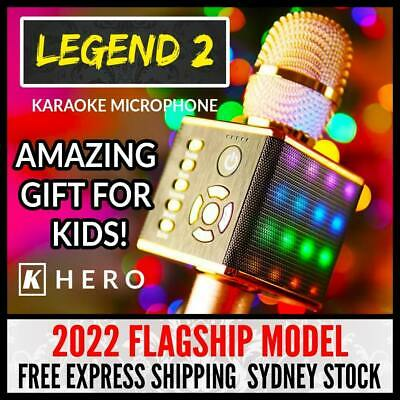 Kids Karaoke Machine Microphone Legend 2 K Hero Khero Girls Gift Idea