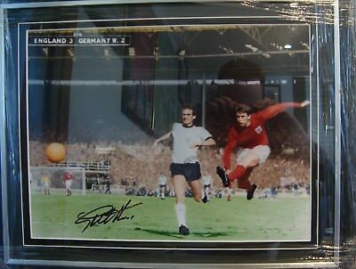 Sir Geoff Hurst Hand Signed and Framed England 1966 World Cup Colour Print