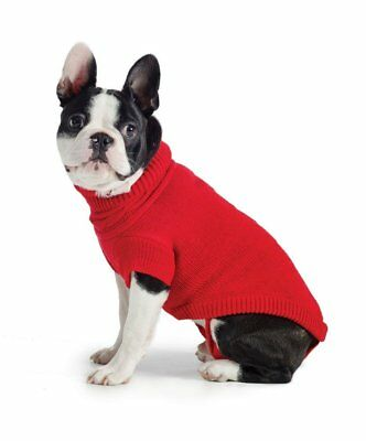 Ancol Muddy Paws Poppy Red Cable Knit Dog Sweater Jumper Coat Jacket