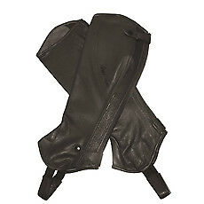 Mark Todd Half Chaps Close Fit Soft Leather Tall Brown Small