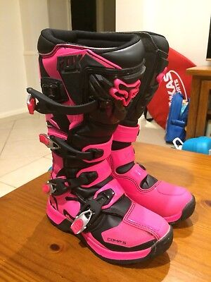 Like NEW Fox Comp 5 Youth MX Motocross, Motorbike Boots Org Size 36 Euro