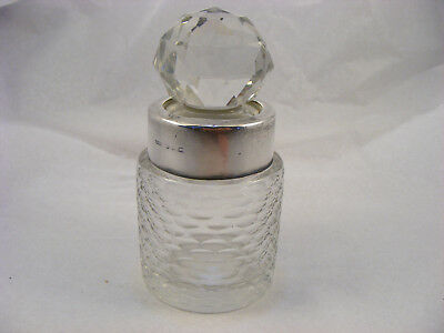 Scent bottle with solid Silver Rim, Birmingham 1893, Henry Williamson Ltd