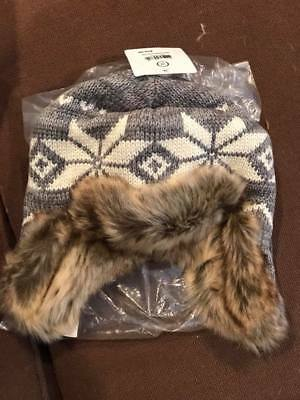 Hanna Andersson faux fur hat boys new gray
