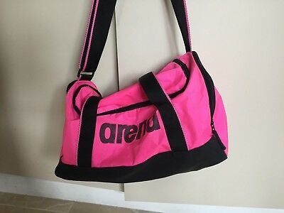 Arena Bright Pink Sports Bag with shoulder strap