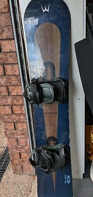 WinterStick snowboard and bindings, made in USA.