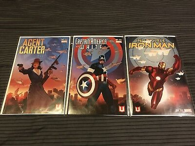 Marvel Unlimited Plus 2016 Agent Carter Captain America White Iron Man Variants