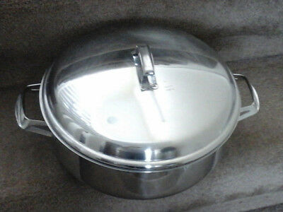 Stainless steel steamer/saucepan  (Hackman)  Le Chef