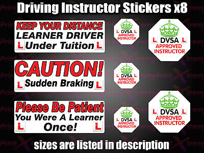 Driving instructor Learner Driver car Vinyl stickers decals Sign DVSA ADI DSA HQ