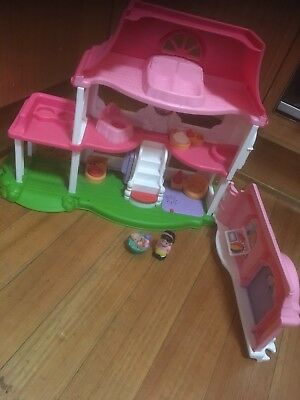 Fisher Price Lovely First Home Dolls House With Little People Pretend Play