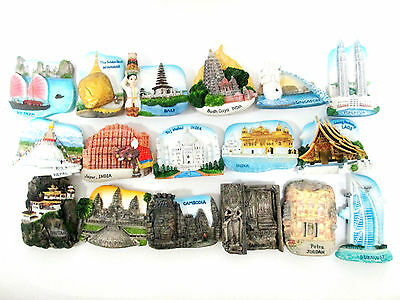 New Travel Refrigerator Fridge Magnet Souvenir Tourist Resin Gifts Asia UK