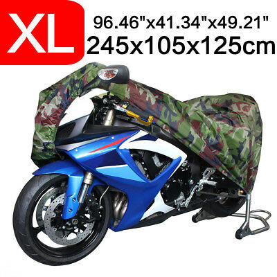 XL Camouflage Motorcycle Cover Bike Scooter Touring Dustproof UV Rain Protector