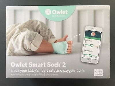 *BRAND NEW* Owlet Smart Sock 2 Baby Heart Rate & Oxygen Level Health Monitor