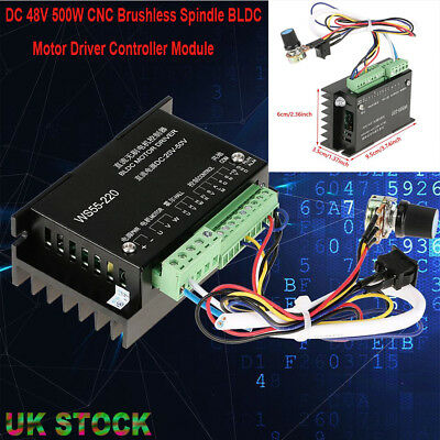 WS55-220 DC 48V 500W CNC Brushless Spindle BLDC Motor Driver Controller Module