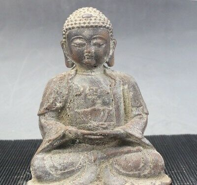 Chinese Old Antique brass Rulai Buddha statue ornament jewellery