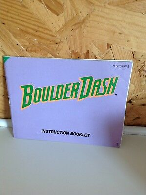 Nintendo Entertainment System Boulder Dash Instruction Booklet