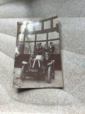 Vintage Real Photo Postcard Early 1900 Car And Passangers